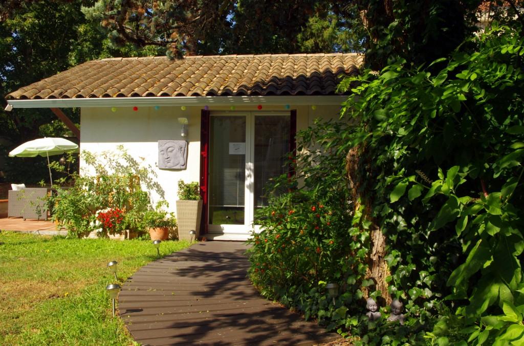 Salon de massage Bien-Etre-Bio Espace calme et verdoyant
